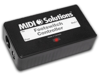 Footswitch Controller from MIDI Solutions
