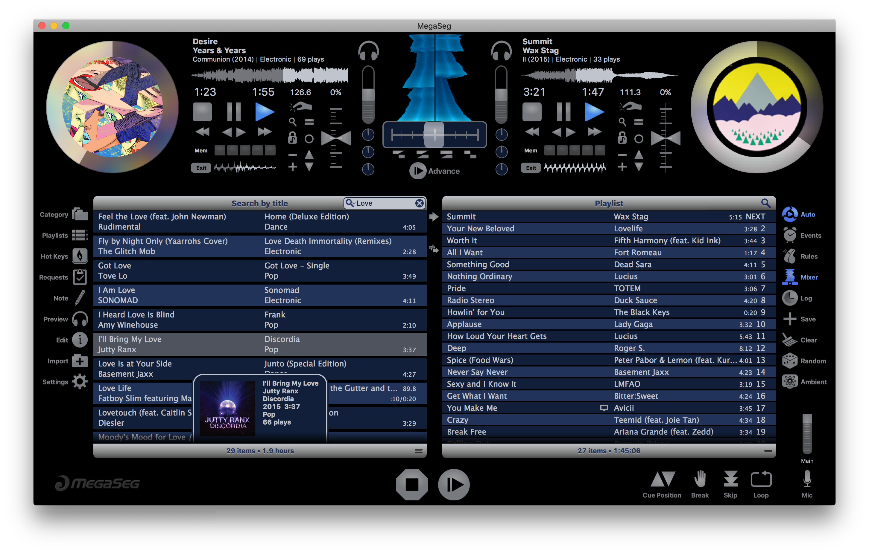 MegaSeg DJ 6.1 update released for macOS Catalina and the new Music app Image